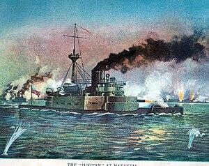 USS Puritan (BM-1) - Puritan at Matanzas.