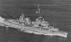 USS Warrington (DD-843) underway after her FRAM I conversion