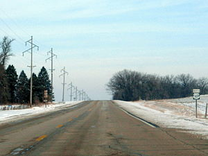 U.S. Route 169 - US 169 runs north in Kossuth County, Iowa