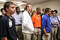 US Army 52289 In the Technical Center Lab, Stephen Cathcart (second from left, back row) and other Columbia High School students listen as a demonstration is explained.jpg