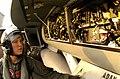 US Navy 030812-N-9769P-051 Lt. j.g. Leslie Mintz conducts a pre-flight inspection of an F-A-18 Super Hornet before flight operations.jpg