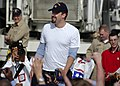 US Navy 031222-N-9742R-005 Academy awarding winning Actor Ben Affleck greets Sailors and Marines on the flight deck aboard the nuclear-powered aircraft carrier USS Enterprise (CVN 65).jpg