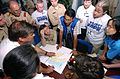 US Navy 050206-N-1450G-052 Dr. Robin Nandy of the Centers for Disease Control and Prevention, explains current conditions in Banda Aceh on the island of Sumatra, Indonesia, to a group of health care providers.jpg