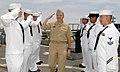US Navy 050517-N-1397H-026 Commander, U.S. Pacific Fleet, Adm. Walter F. Doran, returns a salute as he passes through a sideboy detail aboard guided missile destroyer USS Howard (DDG 83).jpg