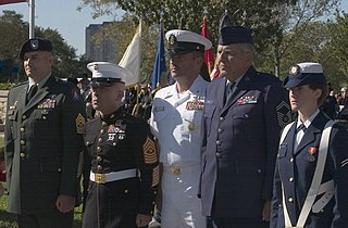 Veterans Day Ceremony with Officers from Five Military Branches