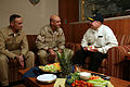 US Navy 081125-M-6412J-330 Capt. Brian Smith and Rear Adm. Kendall L. Card speak with Secretary of the Navy the Honorable Donald C. Winter.jpg