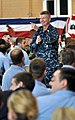 US Navy 090401-N-9712C-002 Master Chief Petty Officer of the Navy (MCPON) Rick West speaks with Sailors at Naval Air Station Joint Reserve Base New Orleans.jpg