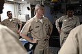 US Navy 090703-N-9818V-107 Master Chief Petty Officer of the Navy (MCPON) Rick West speaks with the chief's mess aboard the guided-missile destroyer USS Curtis Wilbur (DDG 54).jpg