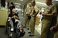 US Navy 091006-N-9818V-027 Master Chief Petty Officer of the Navy (MCPON) Rick West visits with wounded service members during a visit to National Naval Medical Center, Bethesda.jpg