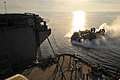 US Navy 100114-N-1831S-041 A landing craft air cushion prepares to enter the well deck of USS Bataan (LHD 5).jpg