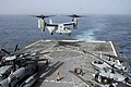 US Navy 100617-N-3358S-042 An MV-22B Osprey assigned to the Golden Eagles of Marine Medium Tiltrotor Squadron (VMM) 162 lands aboard the amphibious transport dock ship USS Mesa Verde (LPD 19).jpg