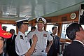 US Navy 100725-N-8951S-101 ) Rear Adm. Michael Shatynski, deputy commander of U.S. Naval Surface Forces, discusses operations with Republic of Korea navy Lt. j.g. Cheong Eun Han.jpg