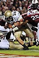 US Navy 110917-N-GT371-212 U.S. Naval Academy fullback Alexander Tech dives over the goal line during the first half of a college football game..jpg