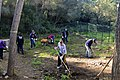 US Navy 111125-N-YM590-116 Sailors assigned to the guided-missile cruiser USS Anzio (CG 68) perform landscaping during a community service project.jpg