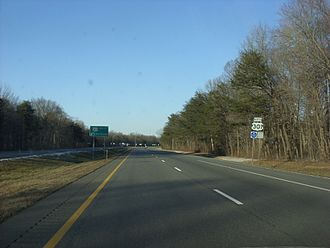 U.S. Route 301 in Maryland - US 301 northbound past MD 313 intersection in Kent County
