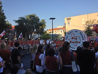 2012 Texas Longhorns football team - Texas fans and the Showband of the Southwest at a pep rally prior to the game