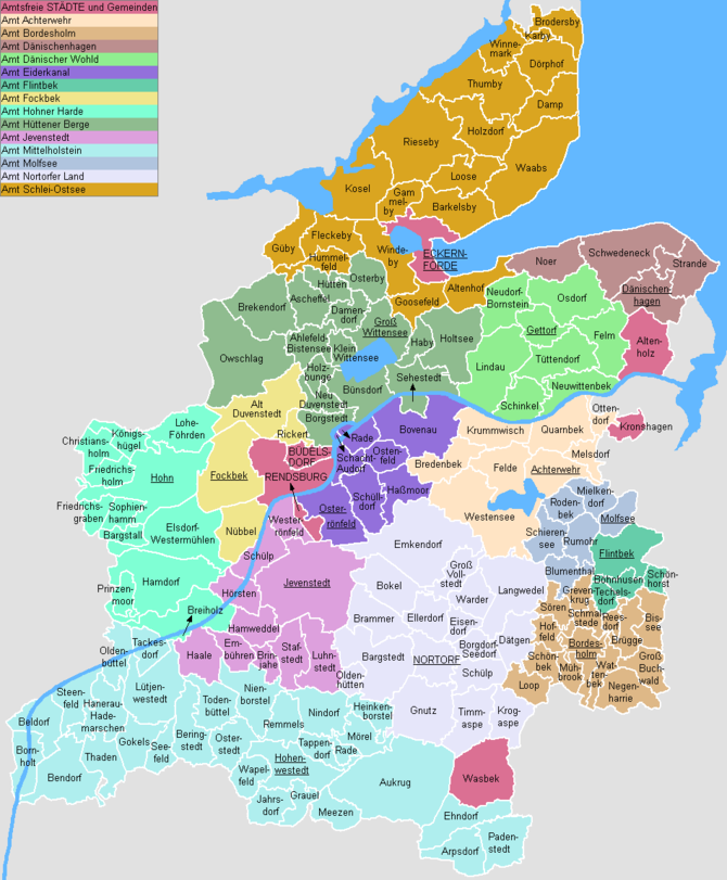 English: This map shows the Ämter (counties) a...