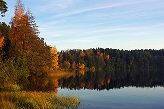 Ida-Viru County - Image: Uljaste järv oktoobris