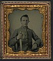 Unidentified soldier in Confederate cavalry uniform with saber LOC 5229238116.jpg