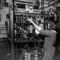 Unidentified woman working with scientific equipment- Miami, Florida (3332780233).jpg