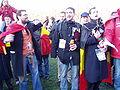 United Belgium Brussels demonstration 20071118 DMisson 00114 parc Cinquantenaire ULB students singing Brabancone.jpg