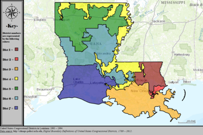 United States Congressional Districts in Louisiana, 1993 – 1994.tif