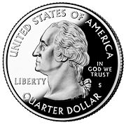 Washington is commemorated on the U.S. quarter.