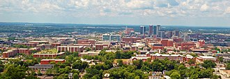 University of Alabama at Birmingham - UAB campus and downtown Birmingham