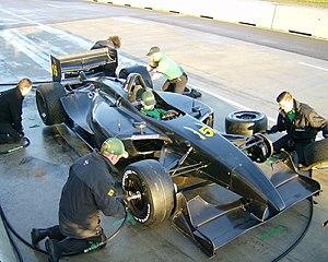 Panoz DP01 - Pre-paint carbon fiber curves of the DP01 at 2007 MSR Houston open test.