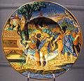 Urbino, francesco x. avelli, piatto con stemma pucci e storie di enea in tracia, 1532.JPG