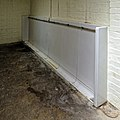 Urinal at Fenner's Field ground, Cambridge University Cricket Club, England 02.jpg