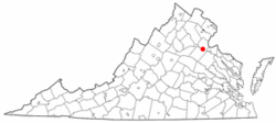 Location in Virginia