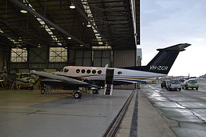2017 Essendon Airport Beechcraft King Air crash - VH-ZCR, the aircraft involved in the accident, at Essendon Airport in late 2014