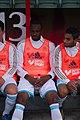 Valais Cup 2013 - OM-FC Porto 13-07-2013 - Kassim Abdallah sur le banc.jpg