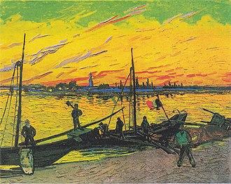 Boats du Rhône - Image: Van Gogh Kohlenkähne