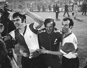 1970 European Cup Final - Wim van Hanegem, Piet Vrauwdeunt, Coen Moulijn