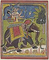 Varaha (Vishnu als everzwijn) rijdend op een olifant, AK-MAK-1535.jpg