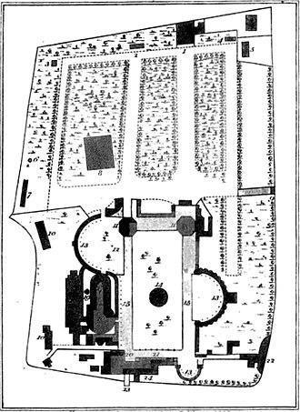 Vauxhall Gardens - Plan of Vauxhall Gardens, 1826