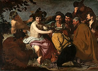 <i>The Triumph of Bacchus</i> painting by Diego Velázquez