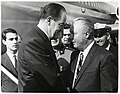 Vice President Hubert Humphrey and Mayor John F. Collins (10926355276).jpg