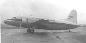 Airwork Services - Airwork Ltd Vickers Viking 1B on a charter flight at Manchester in 1957