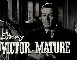 Victor Mature in de trailer van Cry of the City