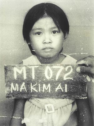 Vietnamese people in the United Kingdom - A Vietnamese boat person in a refugee camp, before immigrating to the Western World