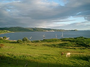 Arduaine - Looking south over Loch Melfort from the Loch Melfort Hotel, Arduaine