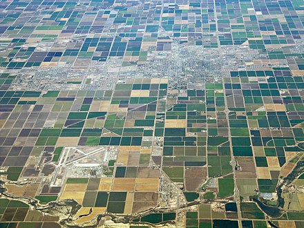 Mosaic of fields in Imperial Valley View from above in the USA.JPG