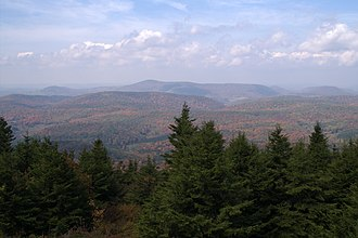 Allegheny Mountains - View from atop Spruce Knob, highest point in the Alleghenies.