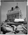 View looking southeast - Penfield Reef Lighthouse, Long Island Sound, Bridgeport, Fairfield County, CT HAER CONN,1-BRIGPO,9-6.tif