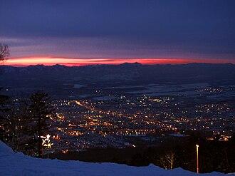 Yuzhno-Sakhalinsk - Image: View of Yuzhno Sakhalinsk from Gorny Vozduh