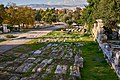 View of the archaeological site of the Ancient Agora from next to Polygnotou Street in Plaka on December 5, 2020.jpg