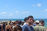 Viewing the Air Force Fly By on Tel Aviv Beach 2019 IMG 3756.JPG
